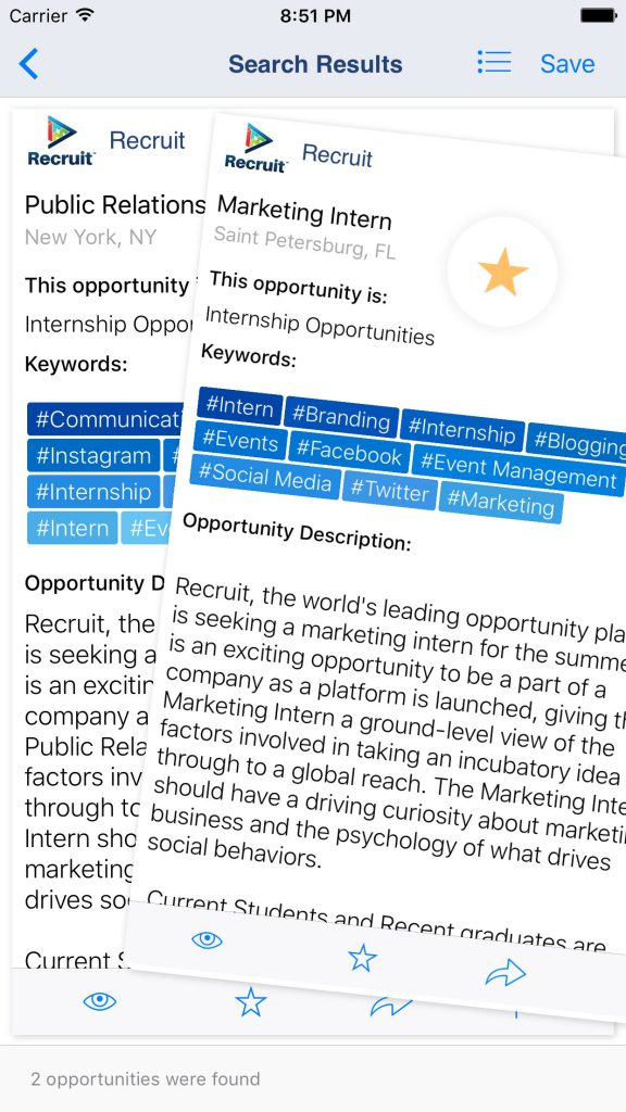 recruit-ios-swipe-swiping-job-and-opportunity-search